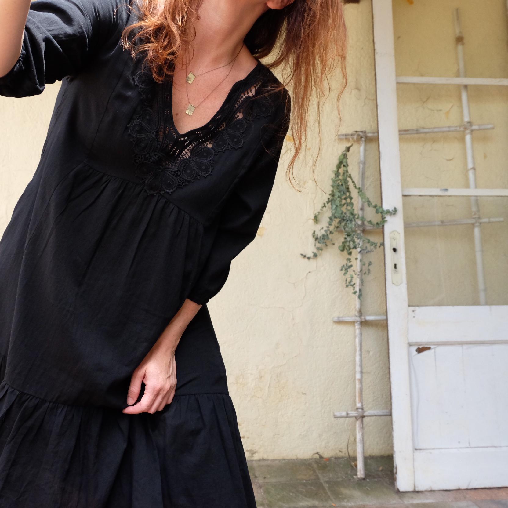 Vestido BOHO negro SEE U SOON BARCELONA MISHA