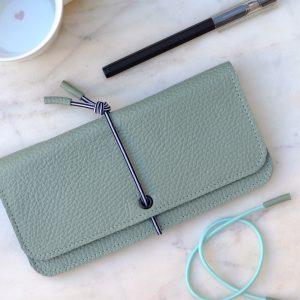 Wallet grande menta Barcelona MIsha