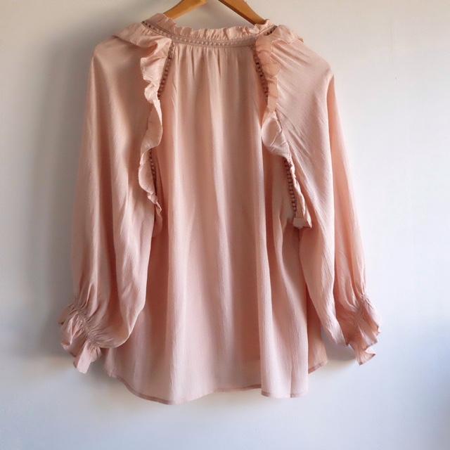 blusa volantes dusty pink Misha Barcelona